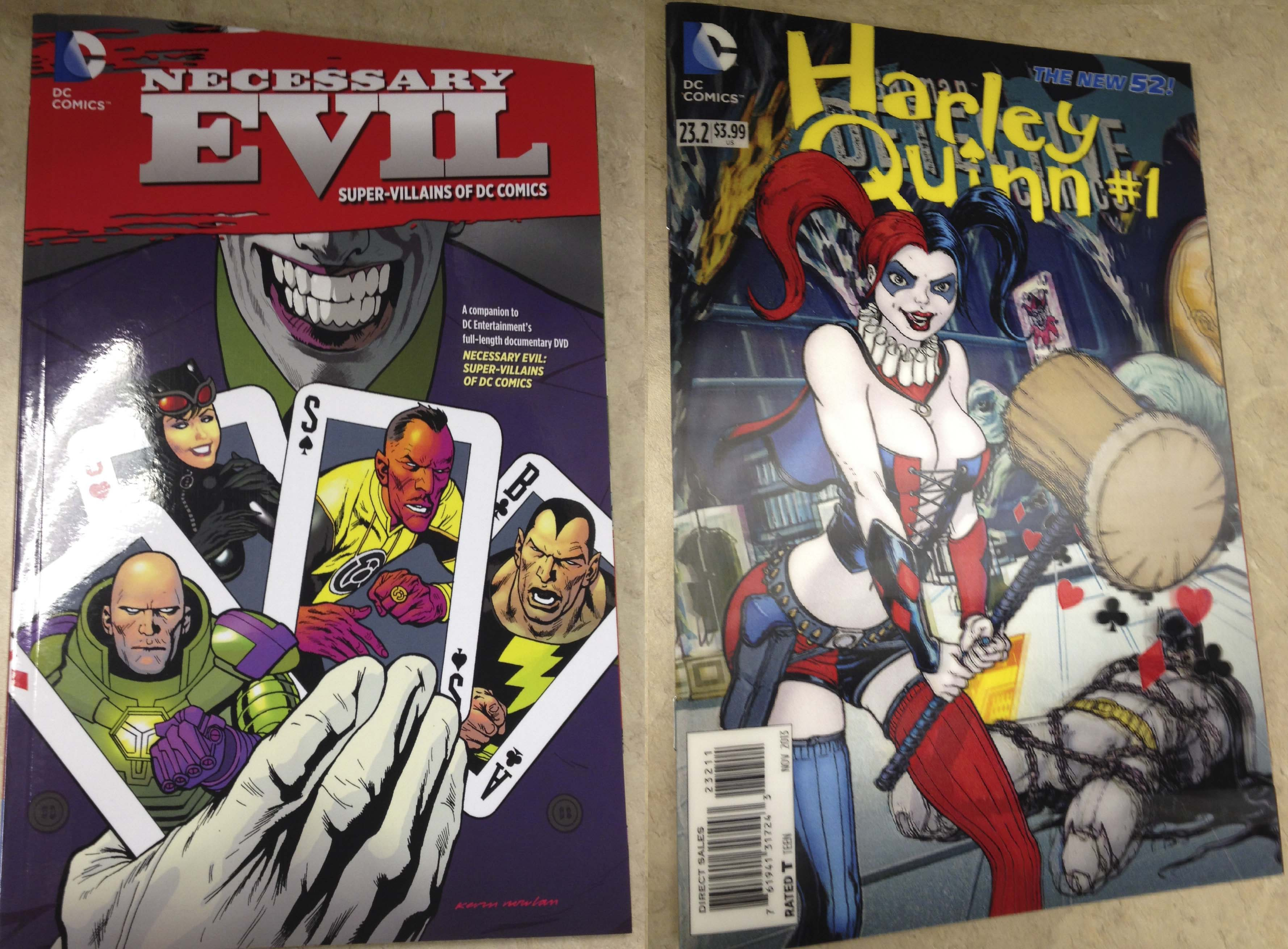 necessary evel and harley  quinn