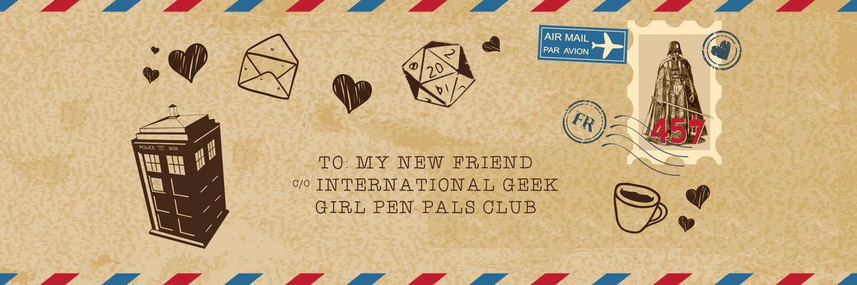 postcard - Geek Girl Pen Pals