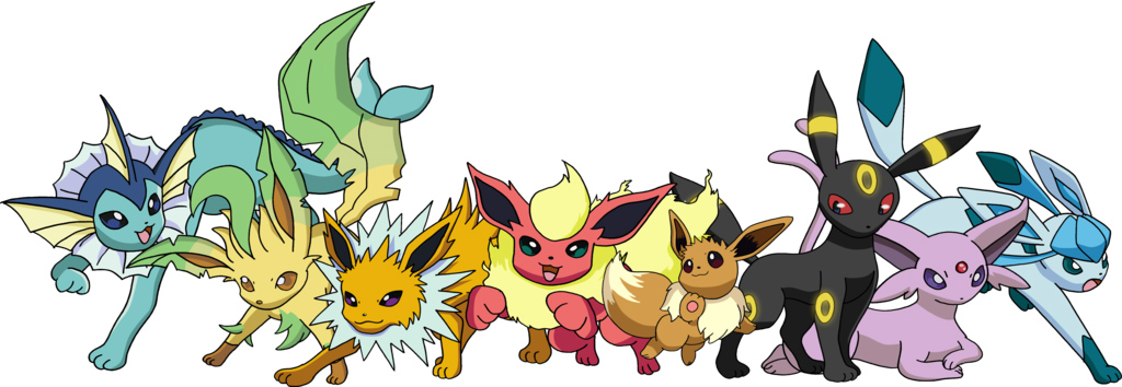 Eevee Evolutions by Tails19950