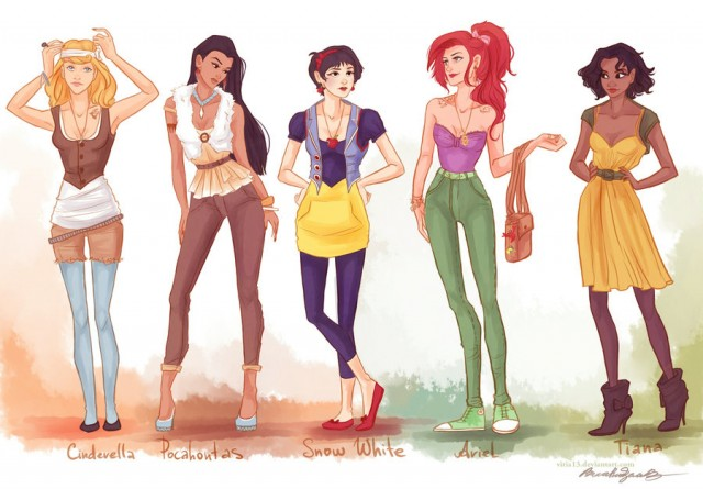 Hipster Disney Princesses via Viria13
