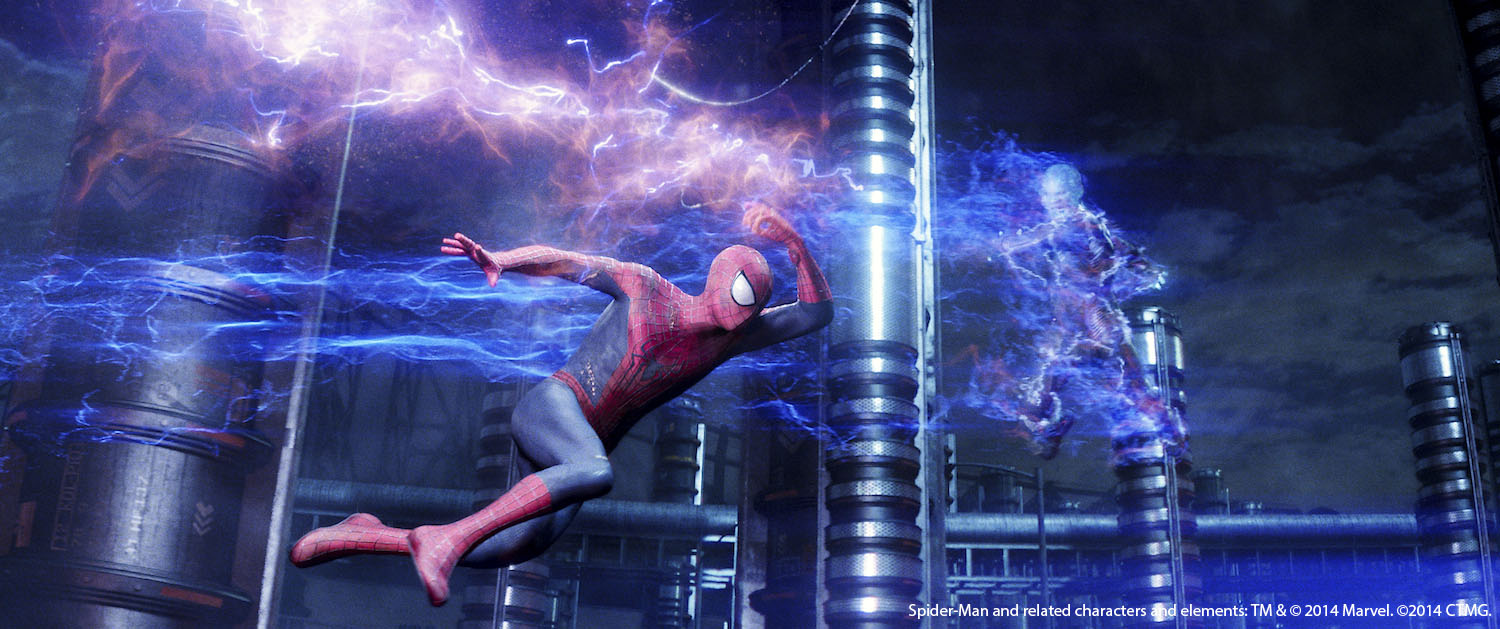 Spidey and Electro face off