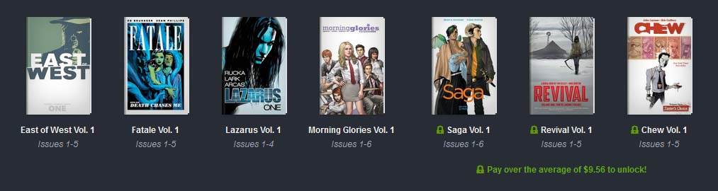 books available in Image Comics Humble Bundle