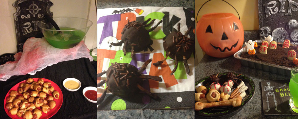 Punch, Chocolate Spiders, and Graveyard Pie
