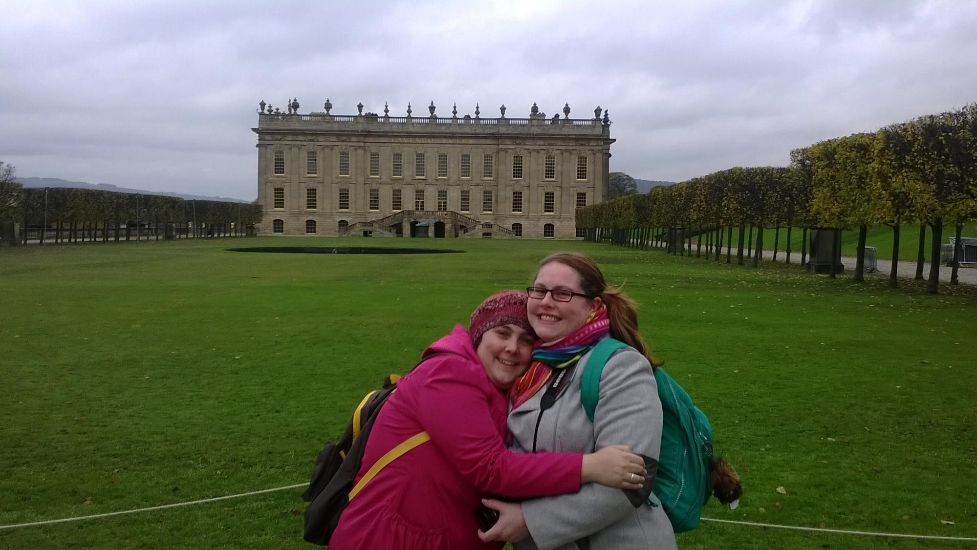 Lisa and Nancy in front of Chatsworth.