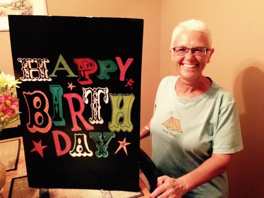 Katherine's favorite piece of mail from Dagmar: an extra special birthday greeting!