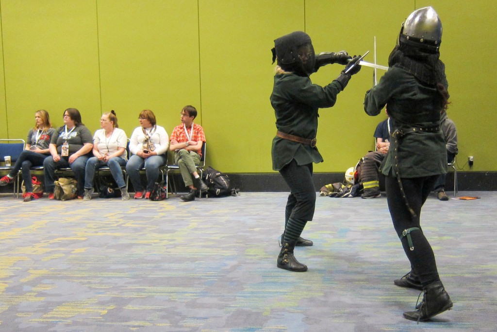 (Sumsy: My favorite was the sword fighting demo by the Chicago Swordplay Guild)