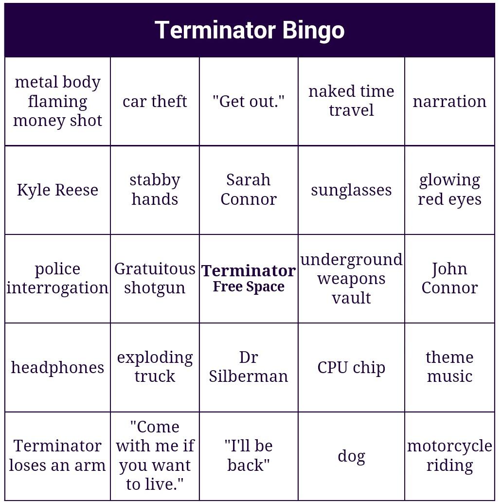 Terminator Bingo