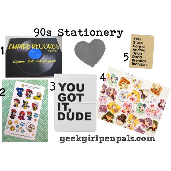 90s stationery