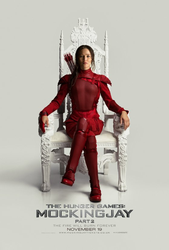 Hunger Games Mockingjay, Katniss in red