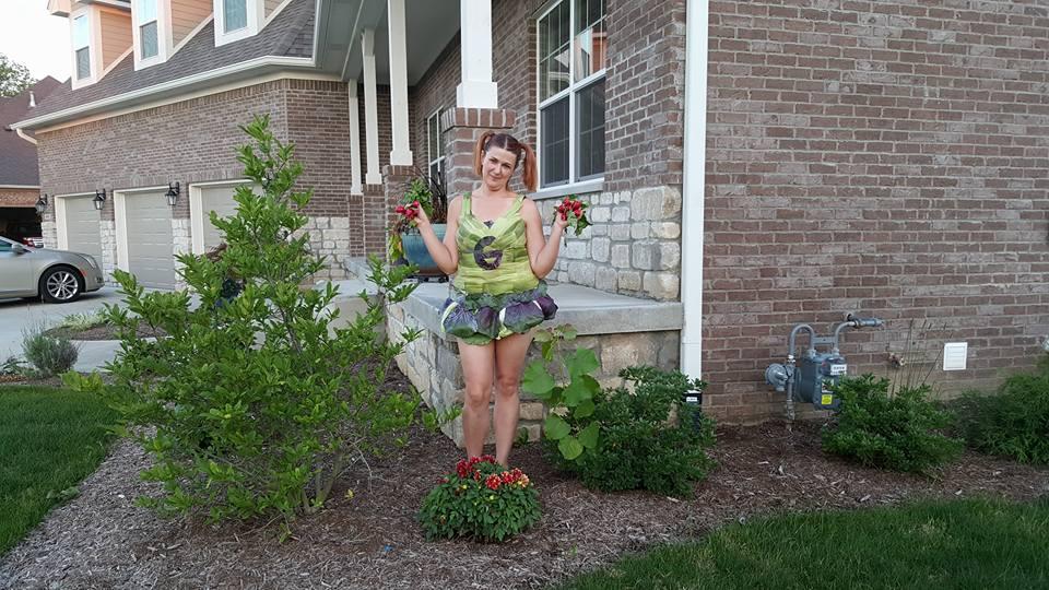 vegetable cheerleader