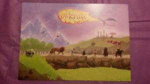 "December 2016 Owlcrate ""spoiler"" postcard."