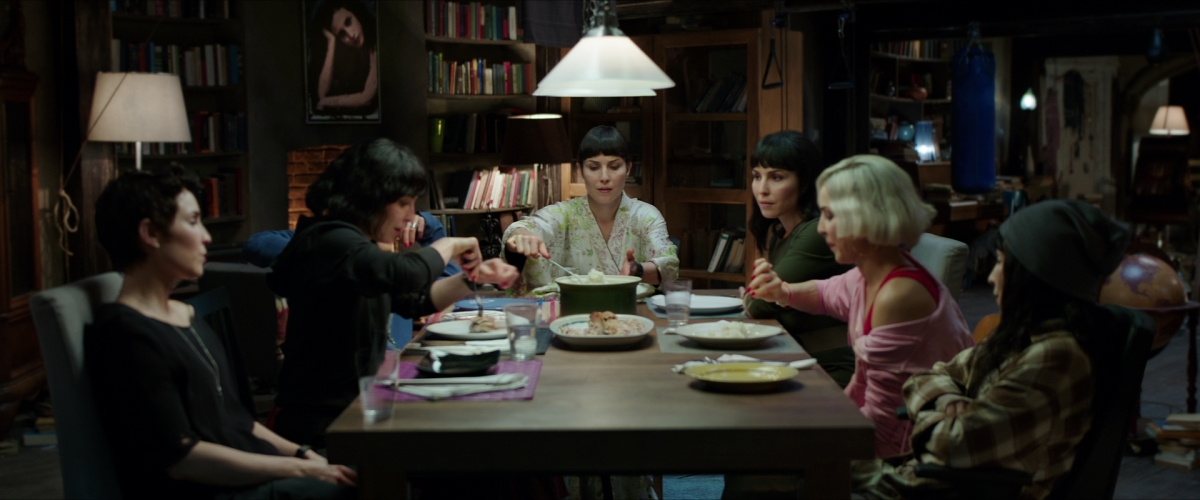 What Happened to Monday; seven sisters played by Noomi Rapace; image courtesy of Netflix