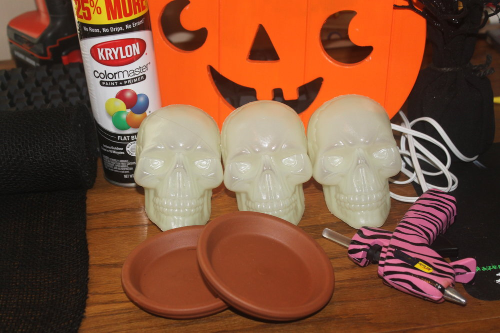 Skull Candle Holder Materials
