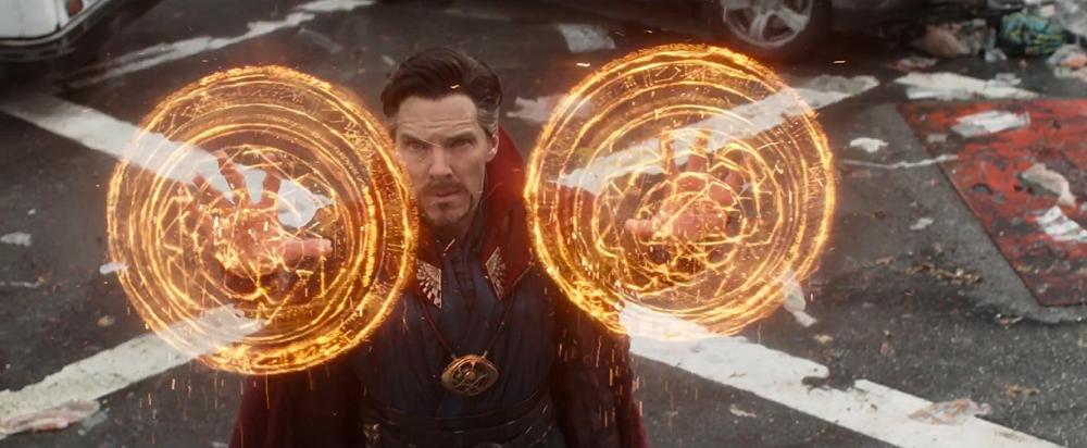 Doctor Strange conjures in Avengers: Infinity War