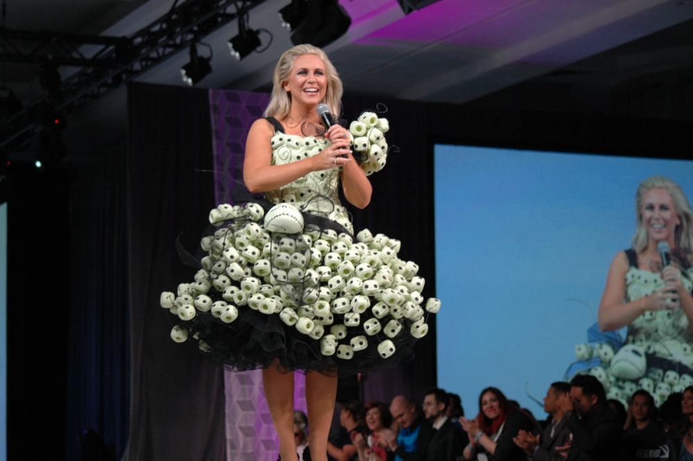 Ashley Eckstein at the Her Universe Fashion Show