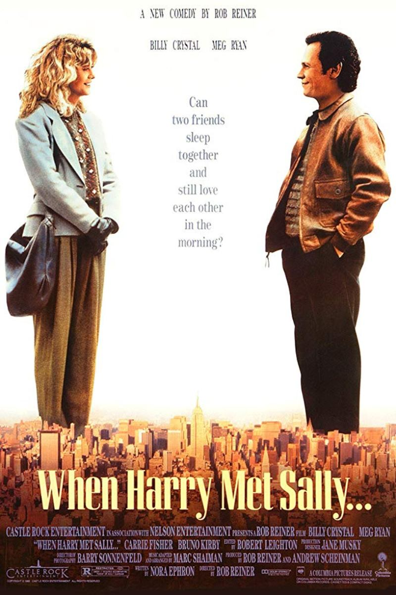 "Poster for the 1989 movie ""When Harry Met Sally"" starring Meg Ryan and Billy Crystal"