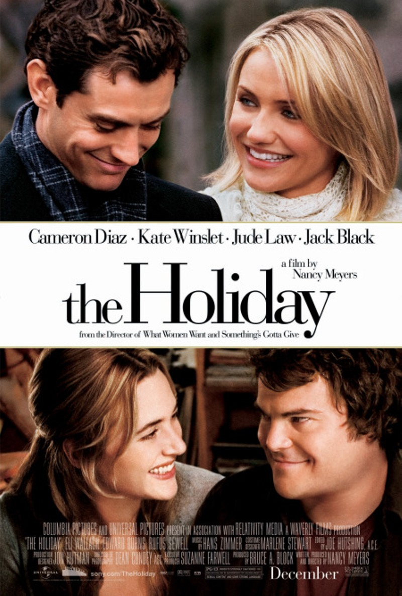 "Poster for the 2006 movie ""The Holiday"" starring Kate Winslet and Cameron Diaz"