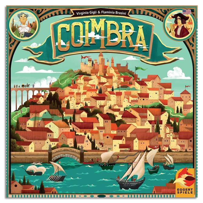 Box cover art for Coimbra board game.