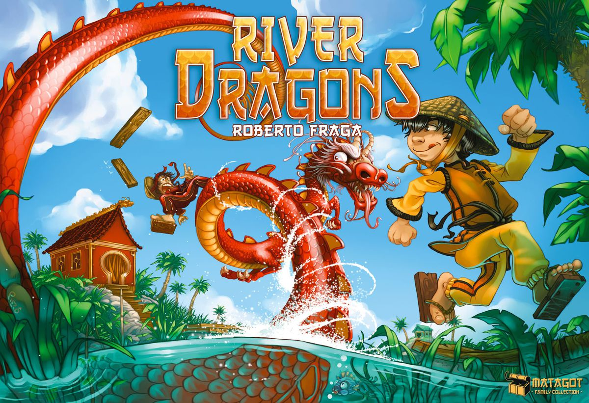 Box cover art for River Dragons board game.