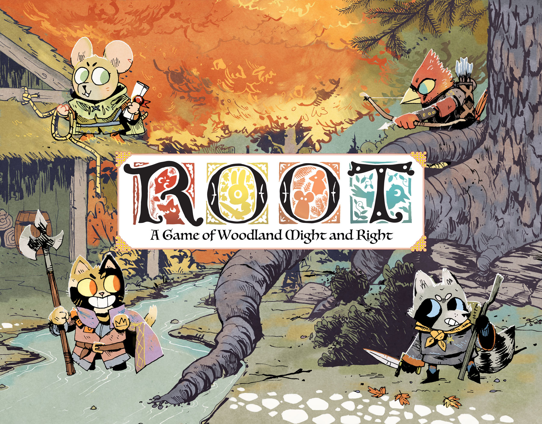 Box cover art for the board game Root.