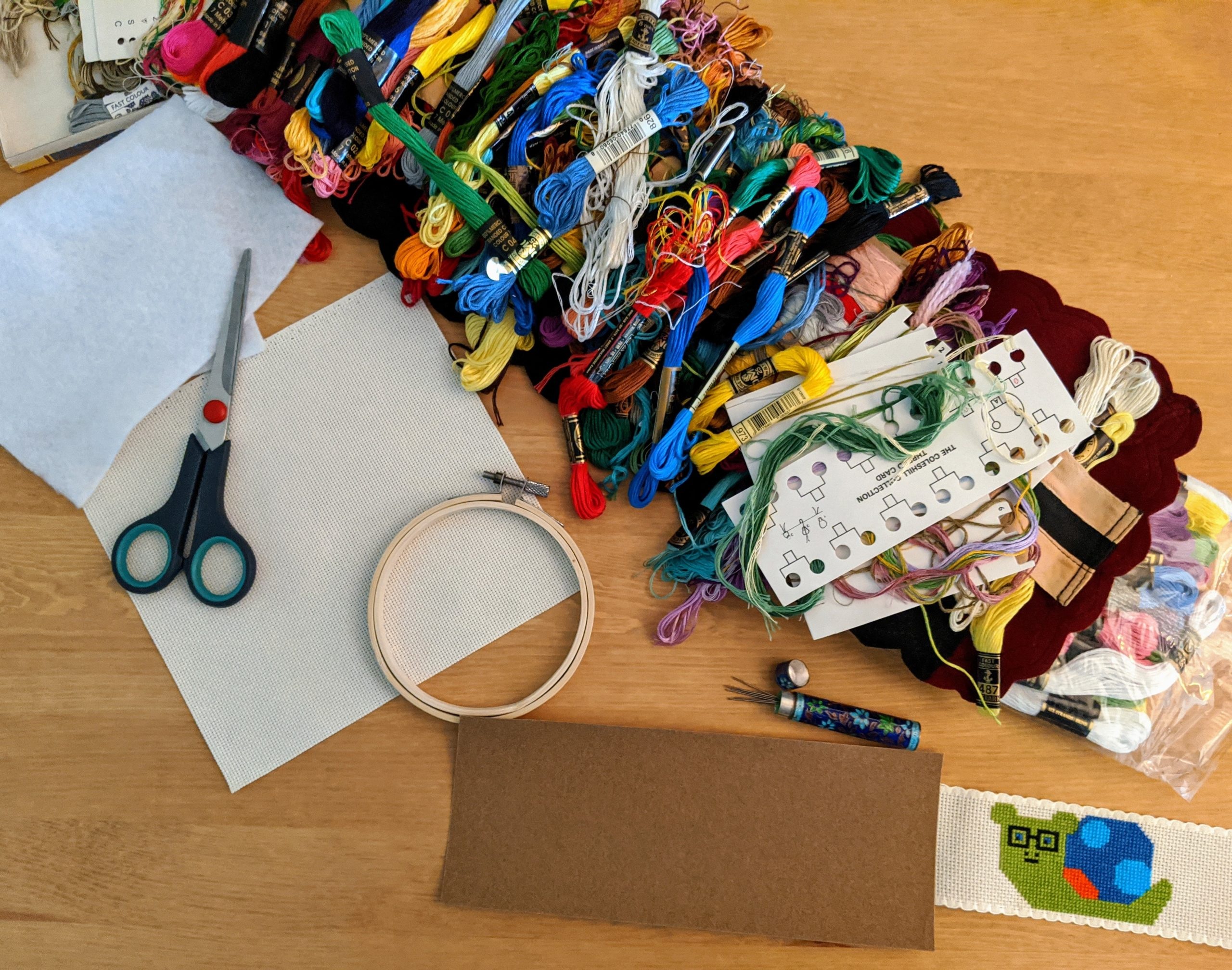 materials for cross-stitch