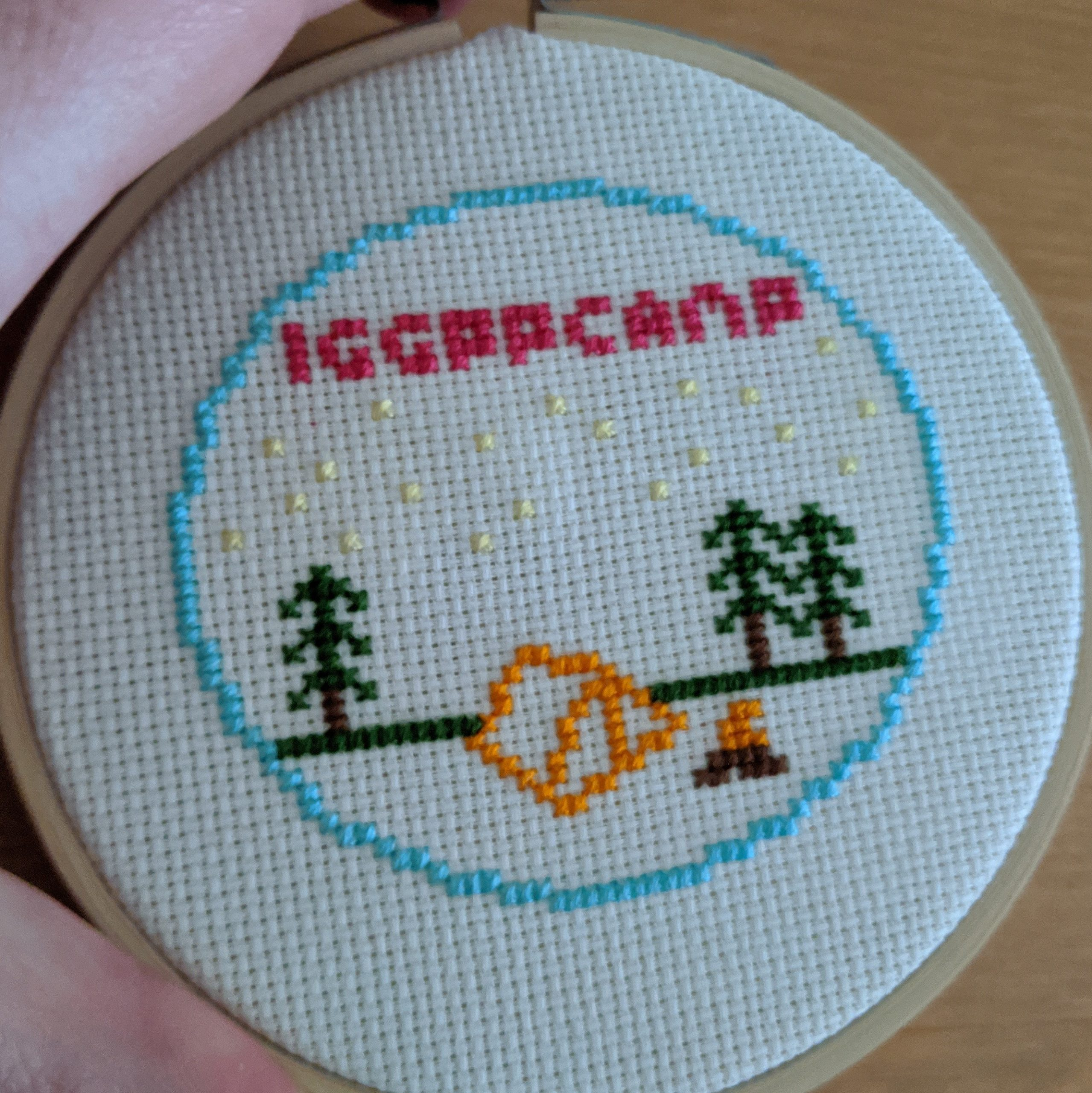 completed cross-stitch