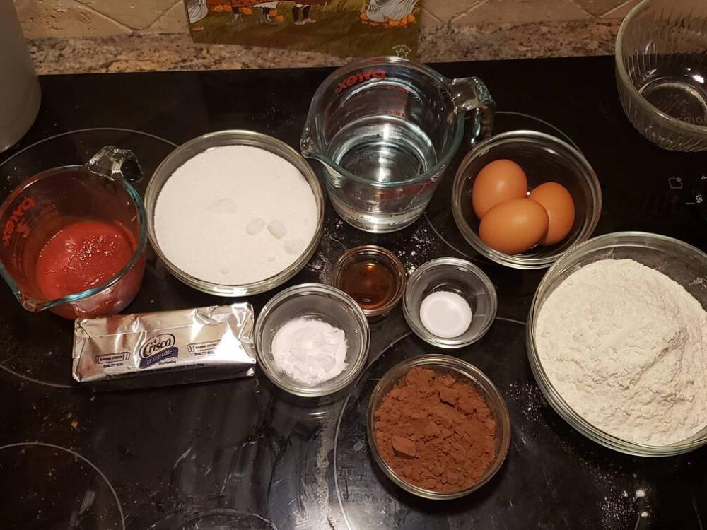 ingredients for thunder cake as described below
